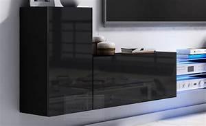 Lowboard Design Möbel : kaufexpert tv lowboard galaxy wei hochglanz schwarz mdf design board hifi tisch beleuchtung ~ Sanjose-hotels-ca.com Haus und Dekorationen