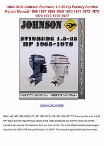 1965 1978 Johnson Evinrude 15 35 Hp Factory S By