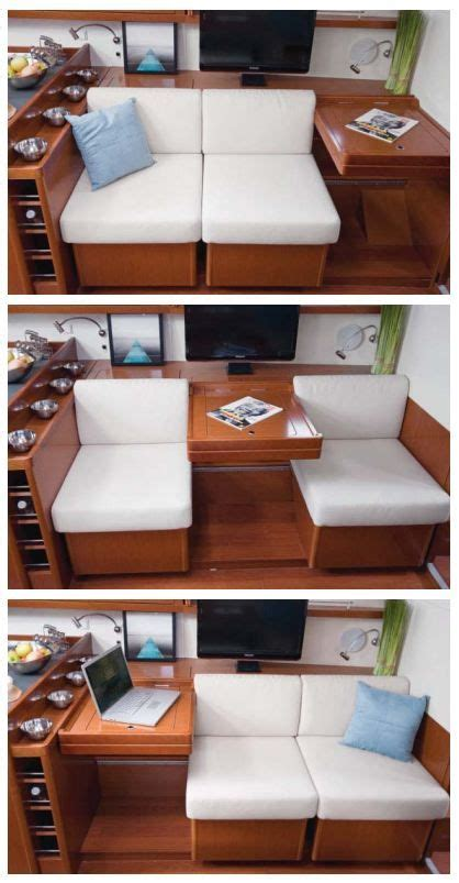 Convertible Settee by Beneteau Oceanis 45 Convertible Settee And Nav Station