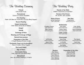 wedding programs trifold wedding program layout 2 page 2 template fans 23755