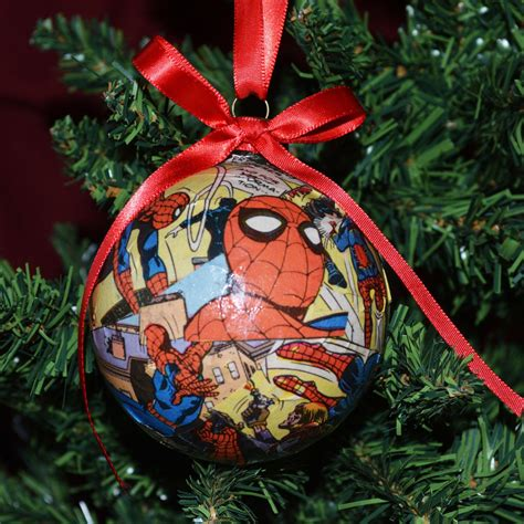 comic book ornaments spiderman ornaments christmas