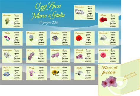 nomi di fiori tableau mariage disegni per eventi