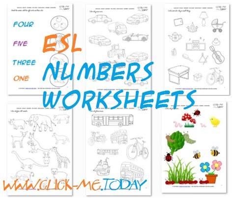 free printable esl numbers worksheets esl activities