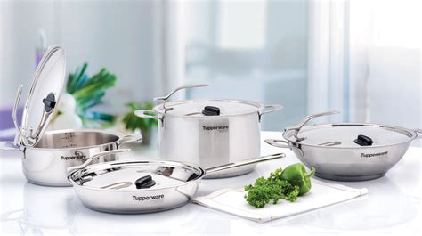 tupperware chef series cookware copper pans safe