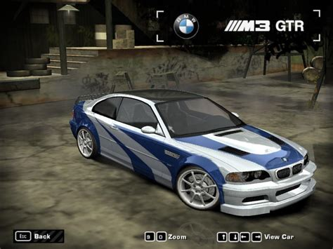 nfs most wanted bmw m3 gtr vinyl indir