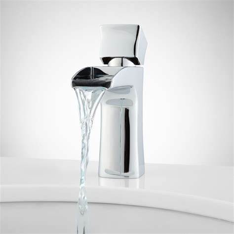 waterfall bathroom faucet chrome waterfall bathroom vessel faucet chrome