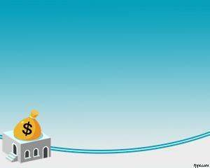 Free money bag and bank house with blue background color ...
