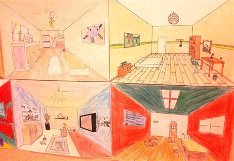 la chambre des travail sur la perspective à partir de quot la chambre à arles quot de gogh voici 4 des chambres