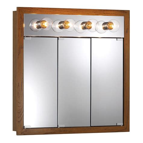 medicine cabinet with lights shop granville 30 in x 30 in rectangle surface