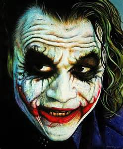 Heath Ledger Joker Painting