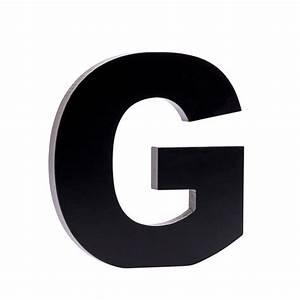 ALFABET Letter G zwart H 17 x B 16 x D 1,5 cm  G