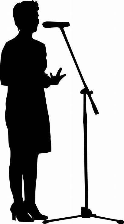 Microphone Person Silhouette Transparent Clipart Instrument Cartoon