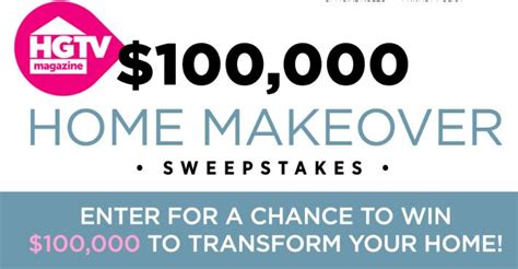 hgtv magazine home makeover sweepstakes win  cash prizes