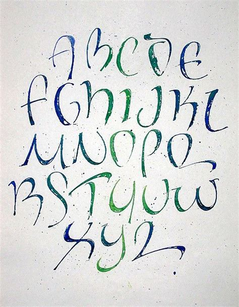 Calligraphy Tattoo Fonts Alphabet