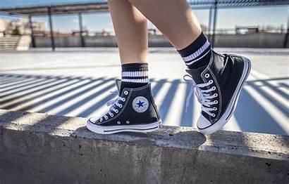 Converse Feet Socks Sneakers Road Wallpapers Desktop