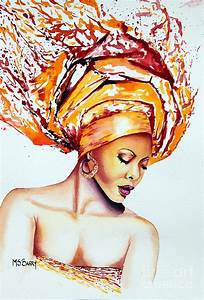 Golden Goddess Painting by Maria Barry