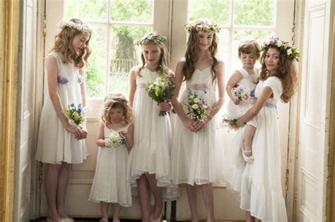 Wedding Dresses For Girls : Differences Betweeen Bridesmaid And Flower Girl