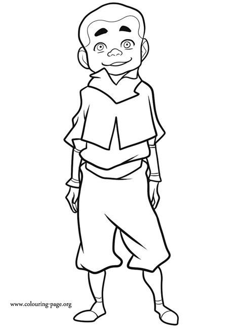 legend  korra meelo coloring page