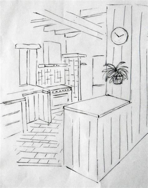 croquis cuisine décoration d 39 intérieur