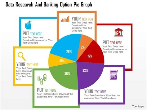 powerpoint graph templates award winning marketing presentation showing data research and banking option pie graph flat