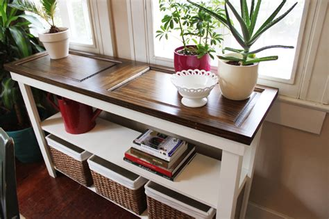 front door table diy door console table icing on the cake