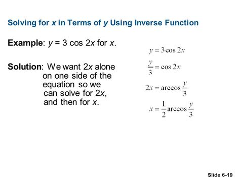 Chapter 6 Equations 61 Solving Trigonometric Equations 62 More On Trigonometric Equations 63