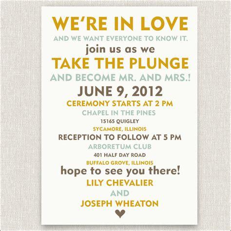 funny  inspiring informal wedding invitation wordings