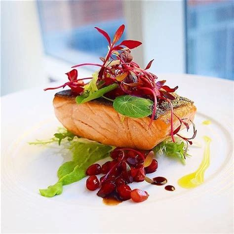 gastrique cuisine recipe on cookniche com herb salmon pomegranate