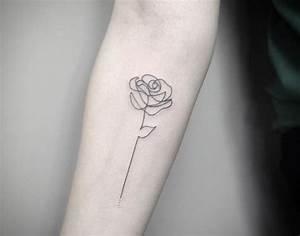 Tatouage Minimaliste : 1001 id es tatouage rose un bouquet d 39 id es et 50 mod les ~ Melissatoandfro.com Idées de Décoration