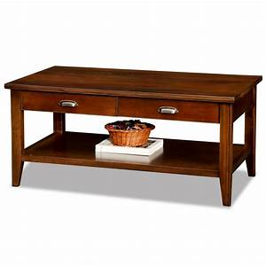 leick laurent two drawer solid wood coffee table With solid cherry wood coffee table