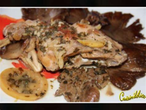 recette de cuisin recettes de pleurotes et lapin