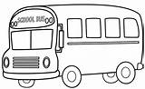 Coloring Bus Pages Print sketch template