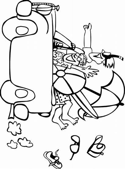Summer Coloring Pages Holiday Break Templates Template