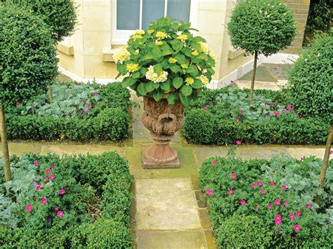 three formal garden designs for three different spaces