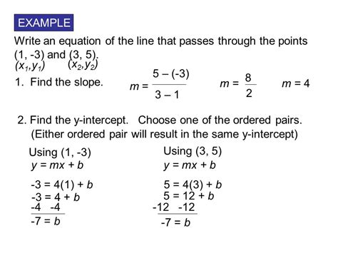 Writing Linear Equations Given Two Points Worksheet Kuta