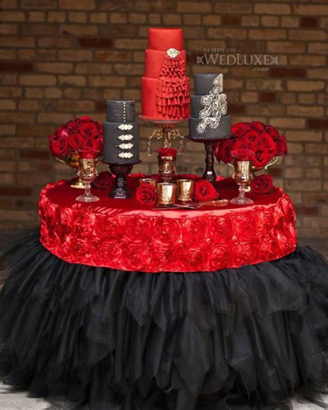 red and black wedding cake decorations wedding cakes archives weddings romantique