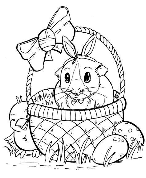 guinea pig coloring page high quality coloring pages
