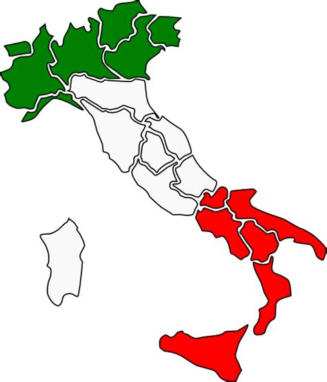 Italian Clip Map Of Italy Clip At Clker Vector Clip