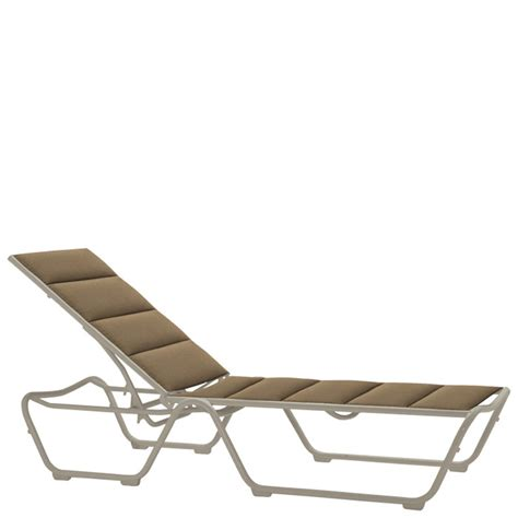 tropitone 220432ps millennia padded sling chaise lounge