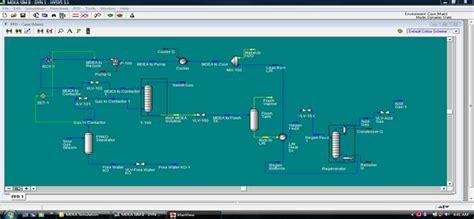 simulation  loading capacity  mdea  dea  amine based  removal  hysys