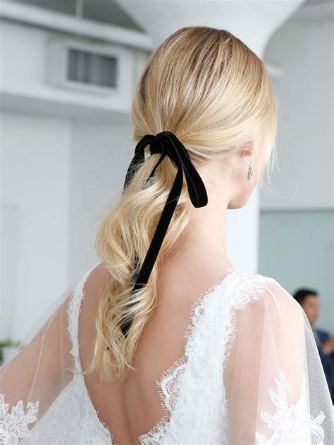 Ideas & Advice by The Knot Classic wedding hair Ribbon