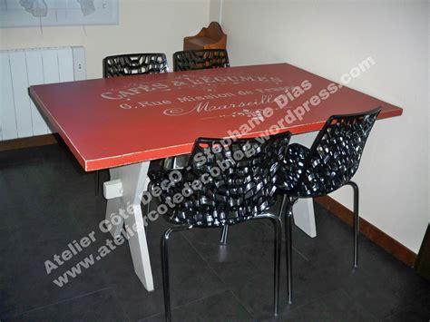 relooker table de cuisine realisation client table de cuisine atelier côté déco