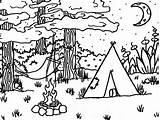 Campamento Acampamento Barraca Faciles Colorironline Ad4 sketch template