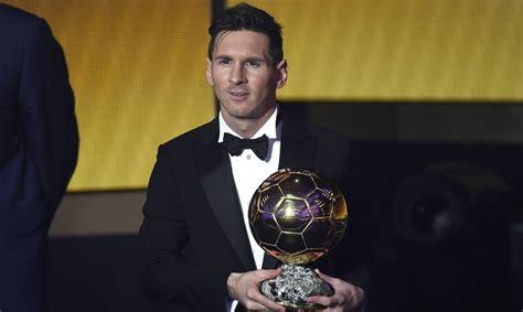 lionel messi wins fifa ballon dor award   time