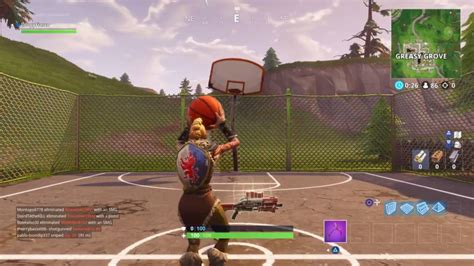 fortnite season  guide score  basket   hoops