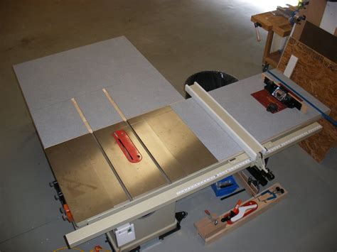 portable table saw outfeed table saw plan useful portable table saw outfeed table plans