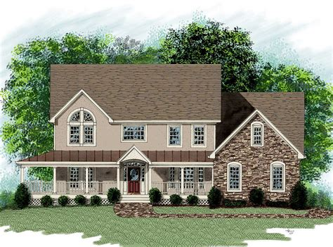 Dramatic Farm House Home Plan  20014ga  2nd Floor Master