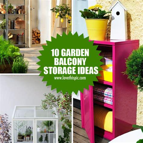 balcony storage 10 garden balcony storage ideas