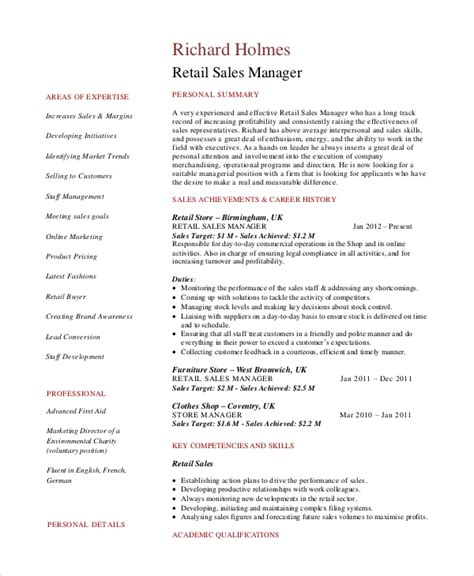 Sales Manager Resume Templates Word sales manager resume template 7 free word pdf