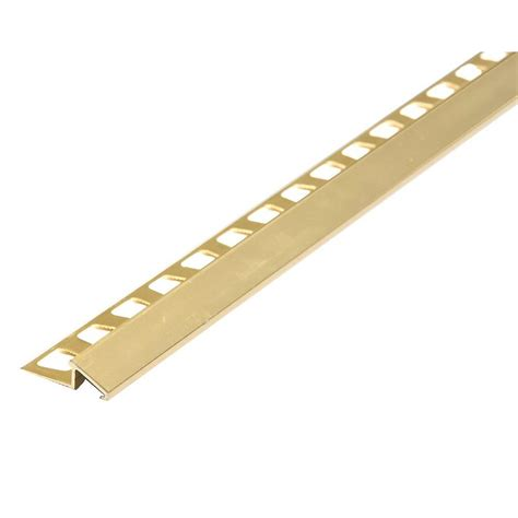 m d building products brite brass 0 42 in x 96 in aluminum reducer tile edging 07435